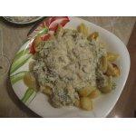 Нежный соус с брокколи и грибами