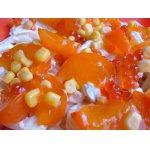Салат из хурмы и кальмаров «Оранж»