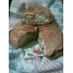 Слоеный пирог с луково-яичной начинкой