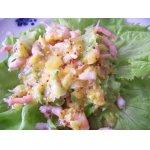 Салат с креветками под цитрусовым соусом