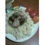 Рис с курицей под соусом Винегрет