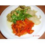 Салат из печеных овощей Эскаливада