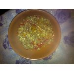 Перловка+мясной фарш+овощи
