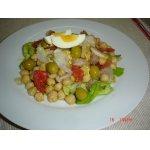 Салат из турецкого гороха и соленой трески - ensalada de garbanzos y bacalao
