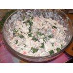 Салат из мидий и кальмаров Морская пучина