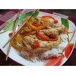 Овощи по-азиатски с курицей