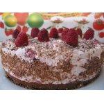 Малиново-шоколадный торт-суфле