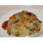 Постный рис с грибами и фисташками