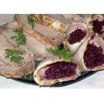 Конвертики из свинины с вишневым соусом
