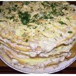 Закусочный торт Рыбный Наполеон