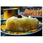 Пирог-перевeртыш с фруктами