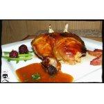 Курица в медовой карамели с мандариновым соусом