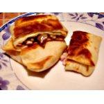 Блинчики с сыром, грибами и ветчиной