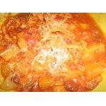 Рубец с картофелем и фасолью
