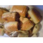 Пирожки с мясом из теста Утопленник