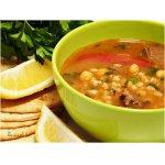 Суп из баранины с нутом и перловкой