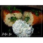 Картофельные зразы с фасолью и опятами