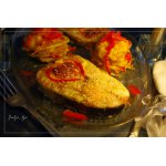Кета, запечeнная с сырным суфле