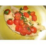Рыба с помидорами черри