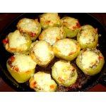 Запечeнный  картофель (с овощами  и  грибами)