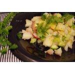 Картофельный салат с овощами и горчичной заправкой