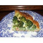 Тарт с семгой и брокколи