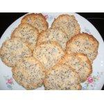 Кокосово-миндальное печенье с маком постное