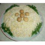 Салат слоеный с овощами и грибами