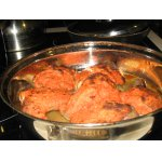 Курица под томатной шубой в духовке
