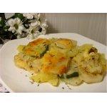 Картофель, запеченный с кабачком и тимьяном