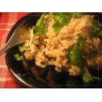 Бурый рис с сельдереем и грибами