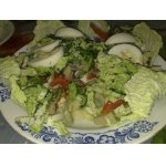 Салат из скумбрии с зеленью