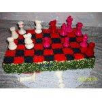 Шахматный бутербродный торт