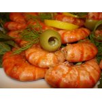 Королевские креветки в чесночном соусе