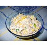 Салат из курицы, шампиньонов и перца