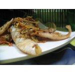 Закуска из жареного с овощами кальмара в китайском стиле
