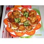 Башенки из кабачков с помидорами и чесноком