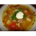 Овощной суп с котлетками