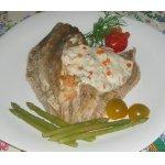 Камбала, фаршированная креветками и сыром