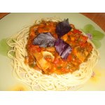 Спагетти с грибами по-болонски