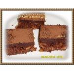 Пирожные с курагой, орехами и шоколадом