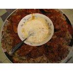Рисовая каша с машем и мясом