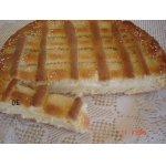 Пирог с кремом из заварного дрожжевого теста
