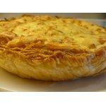 Пирог с капустой и зерненым творогом