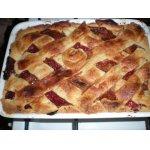 Клубнично-персиковый пирог