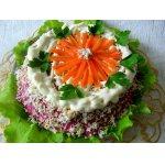 Закусочный селeдочный торт-желе