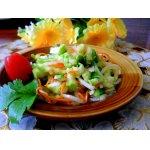 Острый салат из молодых кабачков