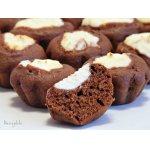 Шоколадные маффины-ватрушки с творожной начинкой