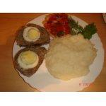 Мясной рулет с мятой и яйцами