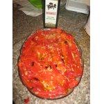 Красный жареный перец на оливковом масле